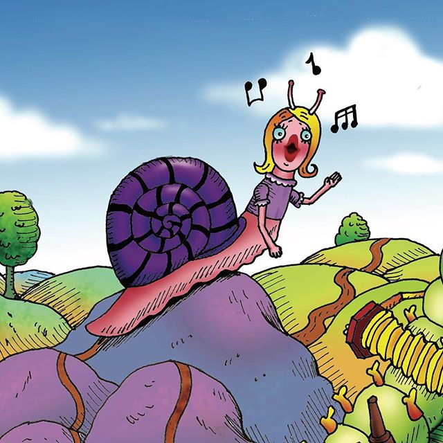 Charlie the Snail loves to sing so much, she can be easily distracted. One day when she was on her way to play with Carlo Cockroach at the Tavern Sundial, she met some musical friends. As the sun went down, did Charlie get there on time for Carlo and her fans or was she late?