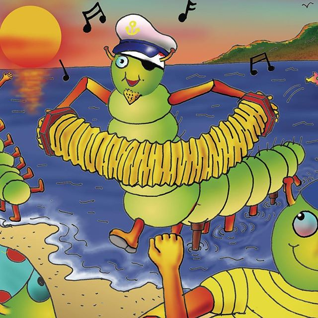 Sea Captain Caterpillar loves to play the squeezebox, and have fun while sailing the seas. The Captain and his sailors have so much fun, they never want it to end. All the dancing makes them very hungry... and after eating and eating and eating some more, they suddenly find themselves in a spot of bother on the high seas.