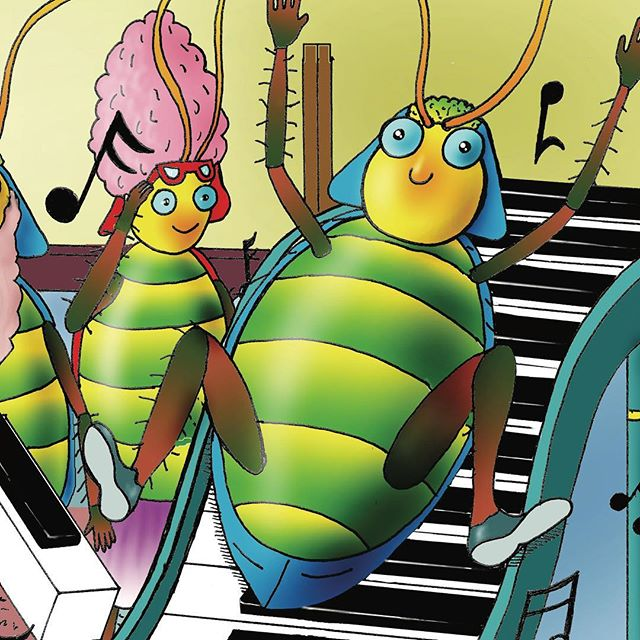 Carlo Cockroach loves to play the piano. He plays the piano for the grandpas and grans and finds out in a most peculiar way that making that little bit of extra effort can make all the difference to others. What could that be?