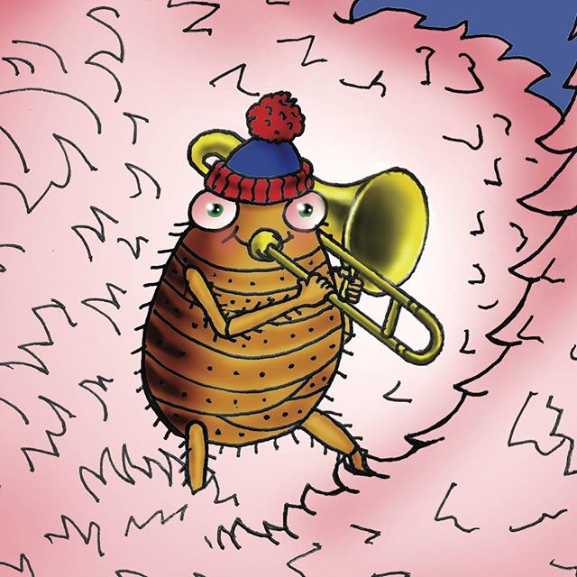 Fergus Flea loves to play the trombone. He is rather brave to learn an instrument that is so heavy, when he's such a little bug. But could he also be brave when he had to play his trombone for Miss Fifi? The answer and Miss Fifi's answer will surprise you.