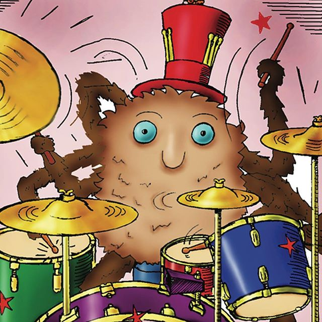 Seymour Spider loves to play the drums. He plays them well but he also plays them loud... much too loud… and his band and the audience aren't happy. What can his band do to help Seymour work together?