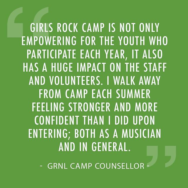 We love rock camp!! Help us reach our fundraising goal! Like, share and donate. Visit our site today (link in bio). 💝🤘🙏 #empowerment #girlsrockcamp2019 #campcouncellor #rockcampinstructors #rockcampyourself #turnupthevolume