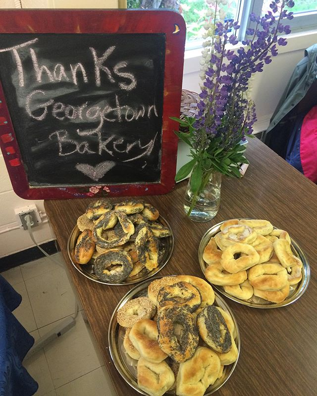 BAGELS!!! Thank you for supporting the future of rock Georgetown Bakery! 🎸⚡️ #grnl2019 #bagels #rock