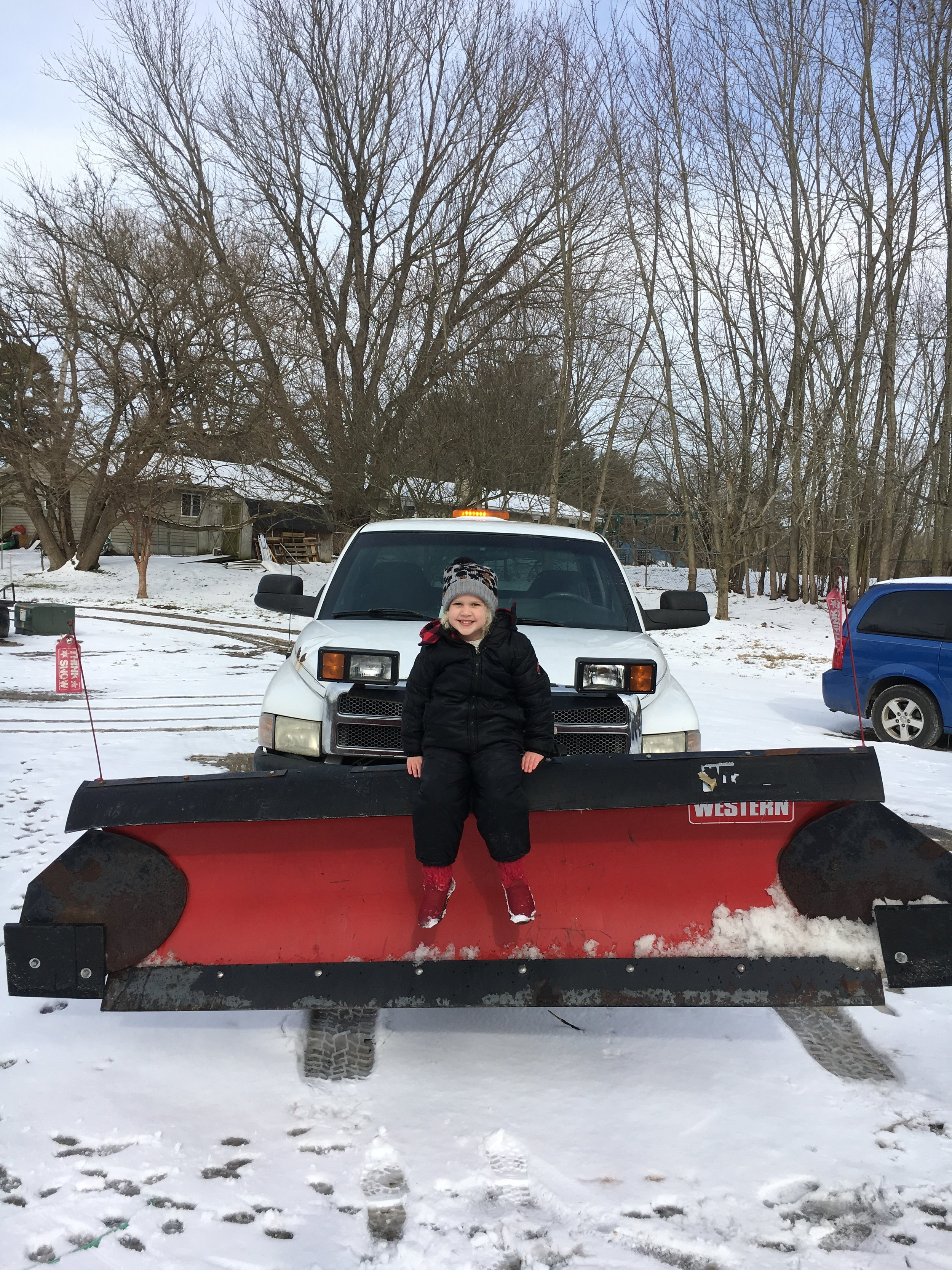 Snow Plowing - Callie the Crew Leader!