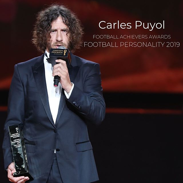 @carles5puyol is the laureate of the Football Achievers Awards Football Personality 2019 category 🏆 . . . #footballjournalist #journalist #football #soccer #soccerstars #idol #fan #legend #footballlegend #honoring #awards #footballachieversawards #footballachievers #ceremony #celebration  #nomination #category #footballfans #player #andreapirlo #sport #passion #inspiring #sportevent #soccerevent