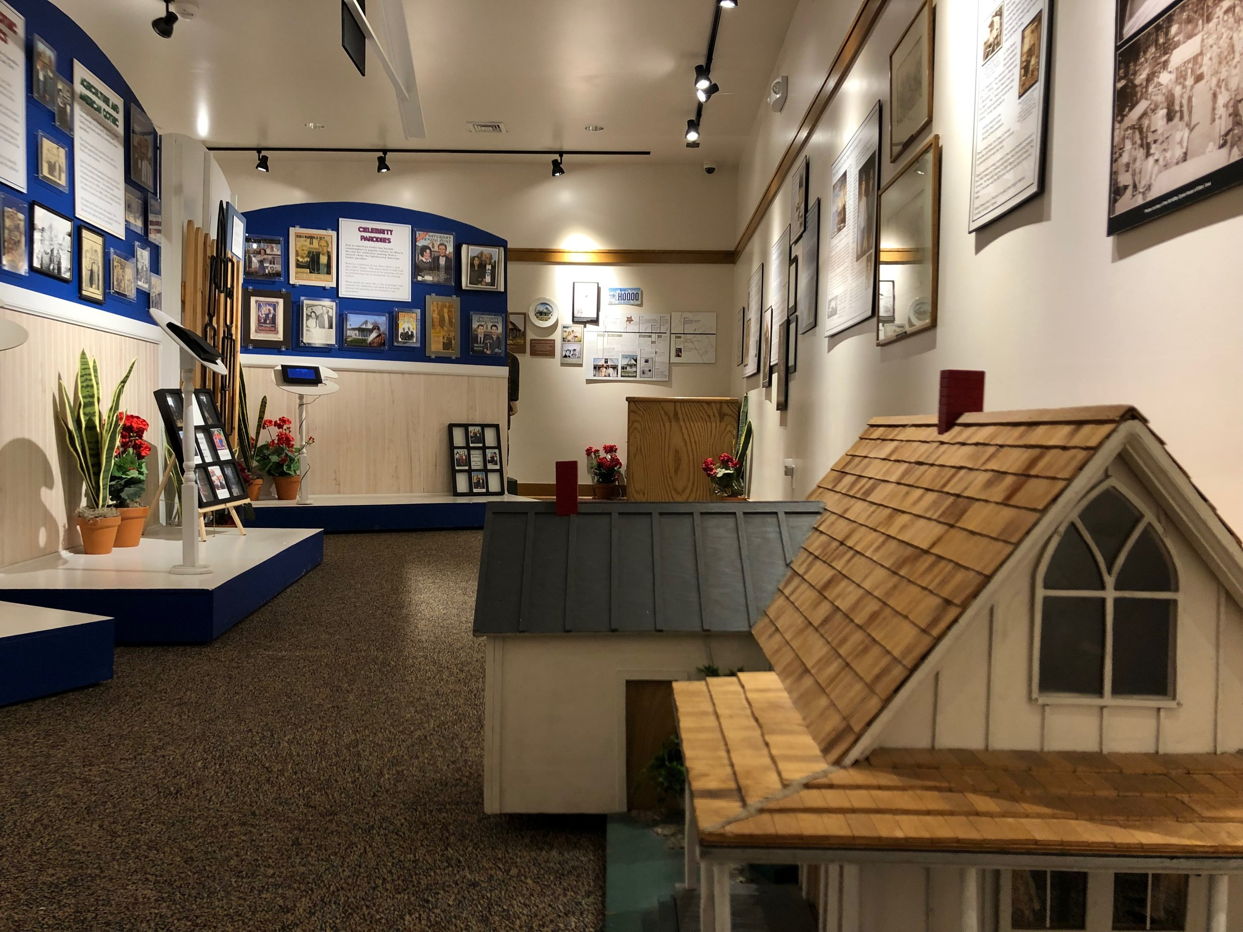 - Our center features an exhibition gallery about the history of the Gothic House, American Gothic, Grant Wood, and more.