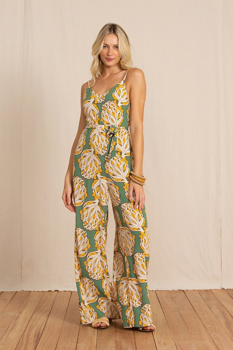 The Jumpsuit - Jumpsuits are the saving grace of transitional seasonal style. A strappy or open bodice with a longer, lightweight pant is the ultimate in flattering and easy going comfort. Pastels and botanical prints like the one featured on our Ochi Jumpsuit, is a subtle way to wear colour with ease in an evening setting. Throw on a pair of chunky heels and a cropped jacket (like our black Scarlett Coat) and the jumpsuit is your transeasonal best friend.