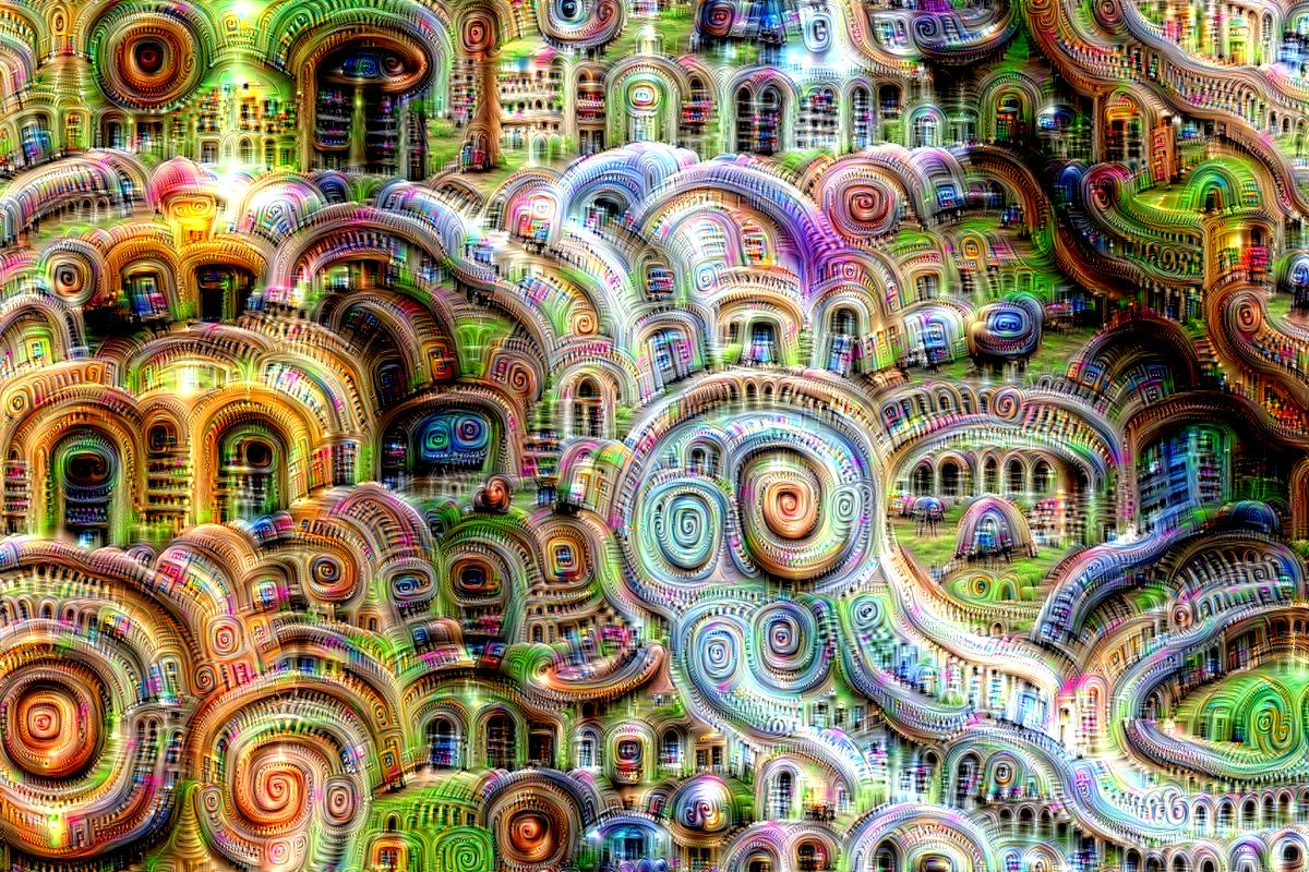 Inceptionism art generated by Google's Deep Dream algorithms.