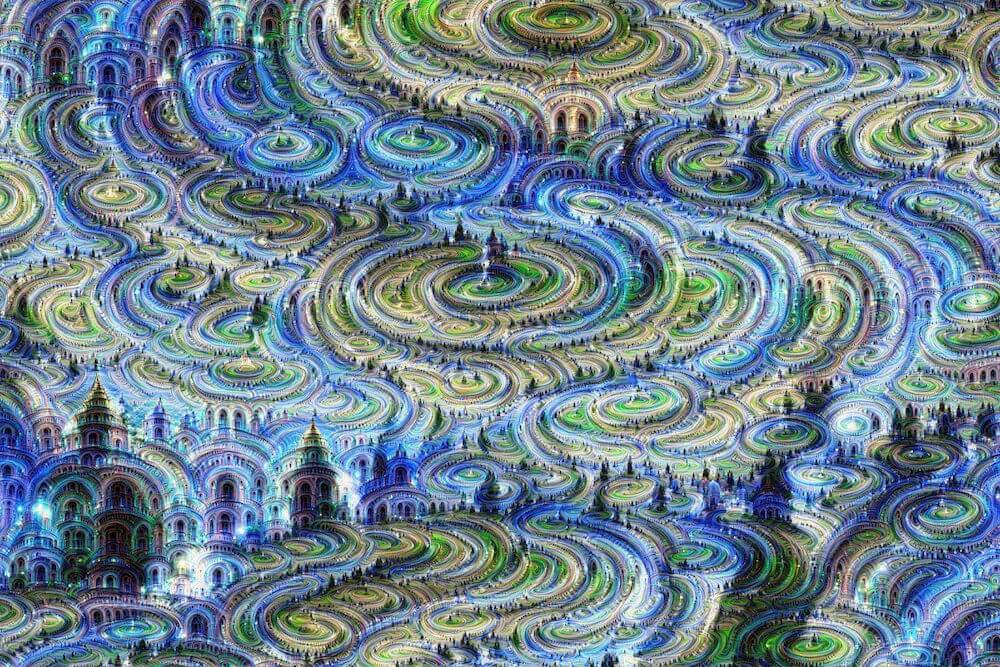 Castles In The Sky With Diamonds - Neural net, Archival print, 60