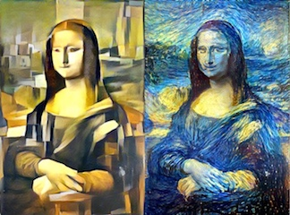 Experiments in Style Transfer - Recomposing images in the style of iconic paintings -