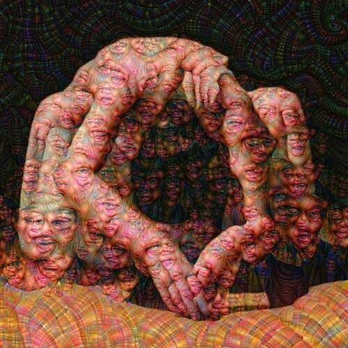 Surrender - Neural net, Archival print, 36x60
