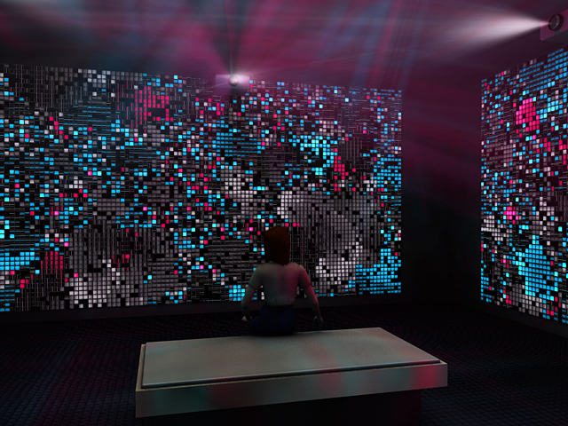 Flicker - A multi-screen, immersive audio visual installation based on insect dynamics.