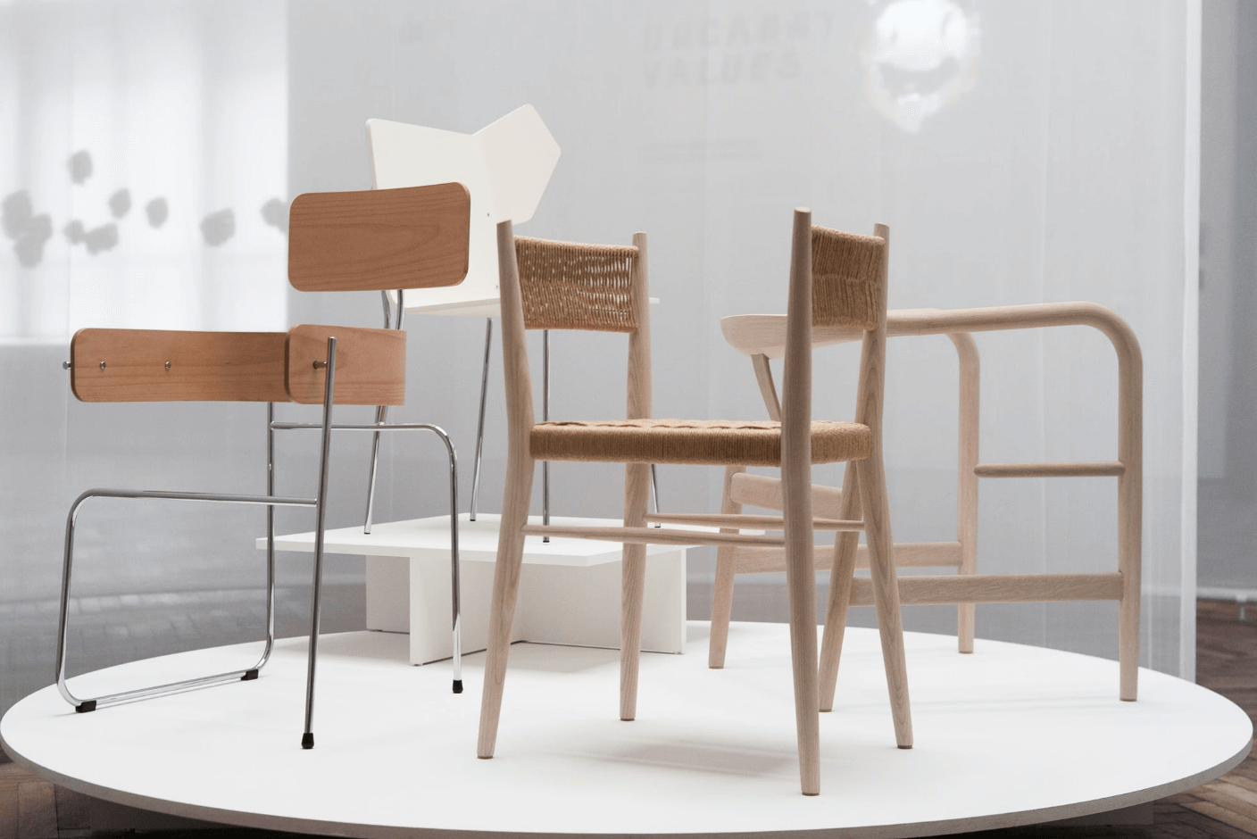 The Chair Project (Four Classics) - AI-designed, human-executed chairs. Exploring co-design with AI, they suggest ways of looking that de-center the human; yet are completely useless, an irony of AI solutionism.