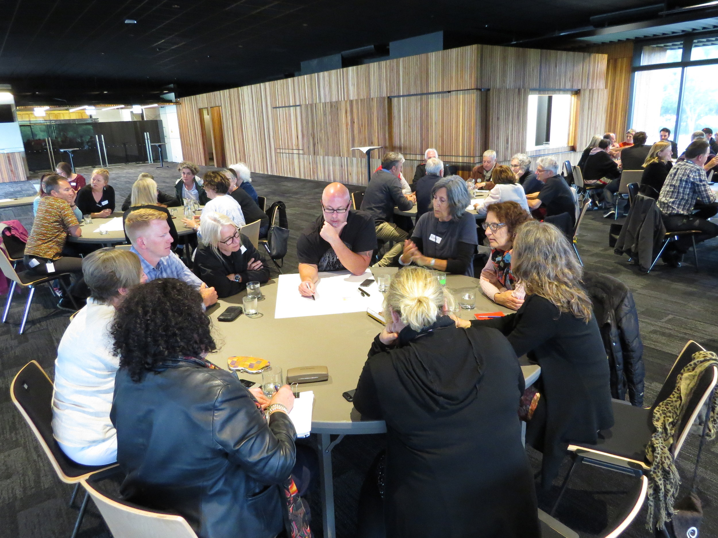Nelson Arts Festival Planning Event showing groups