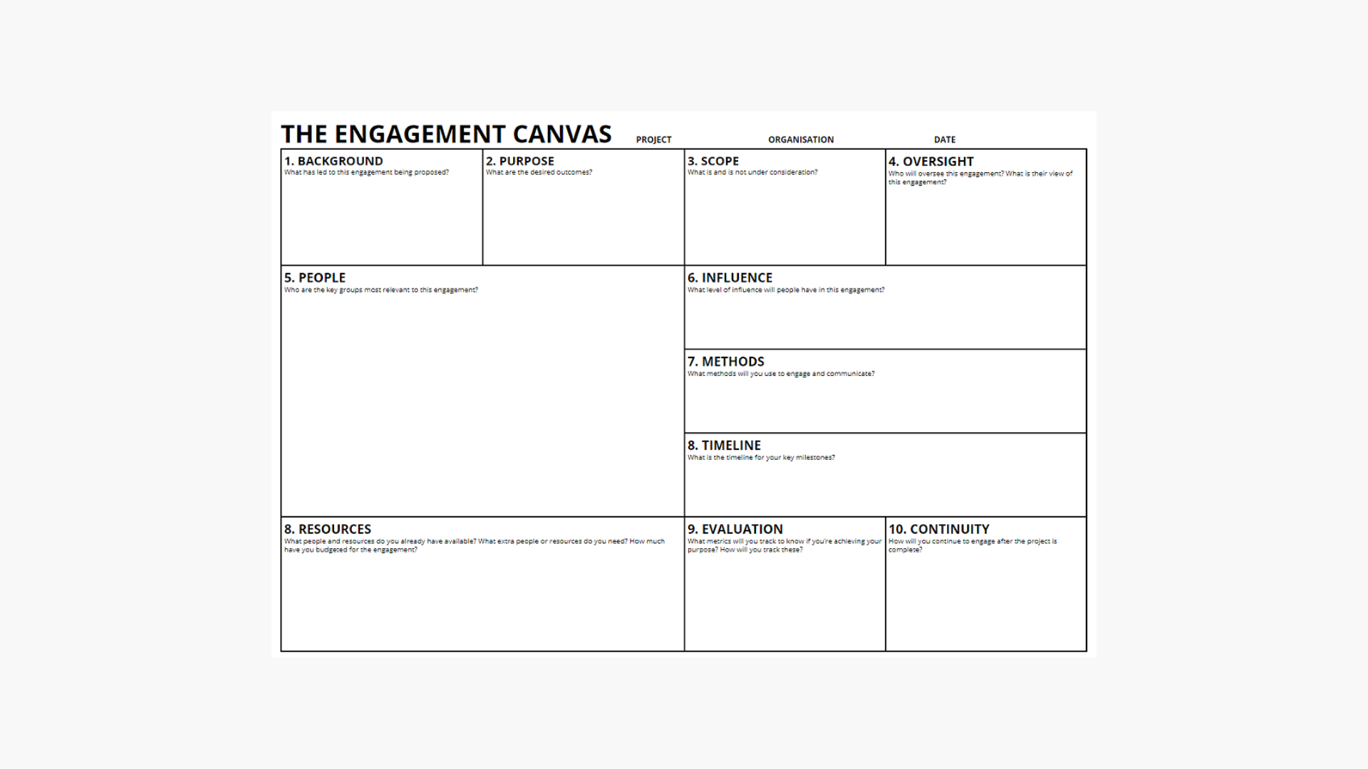 Engagement Canvas