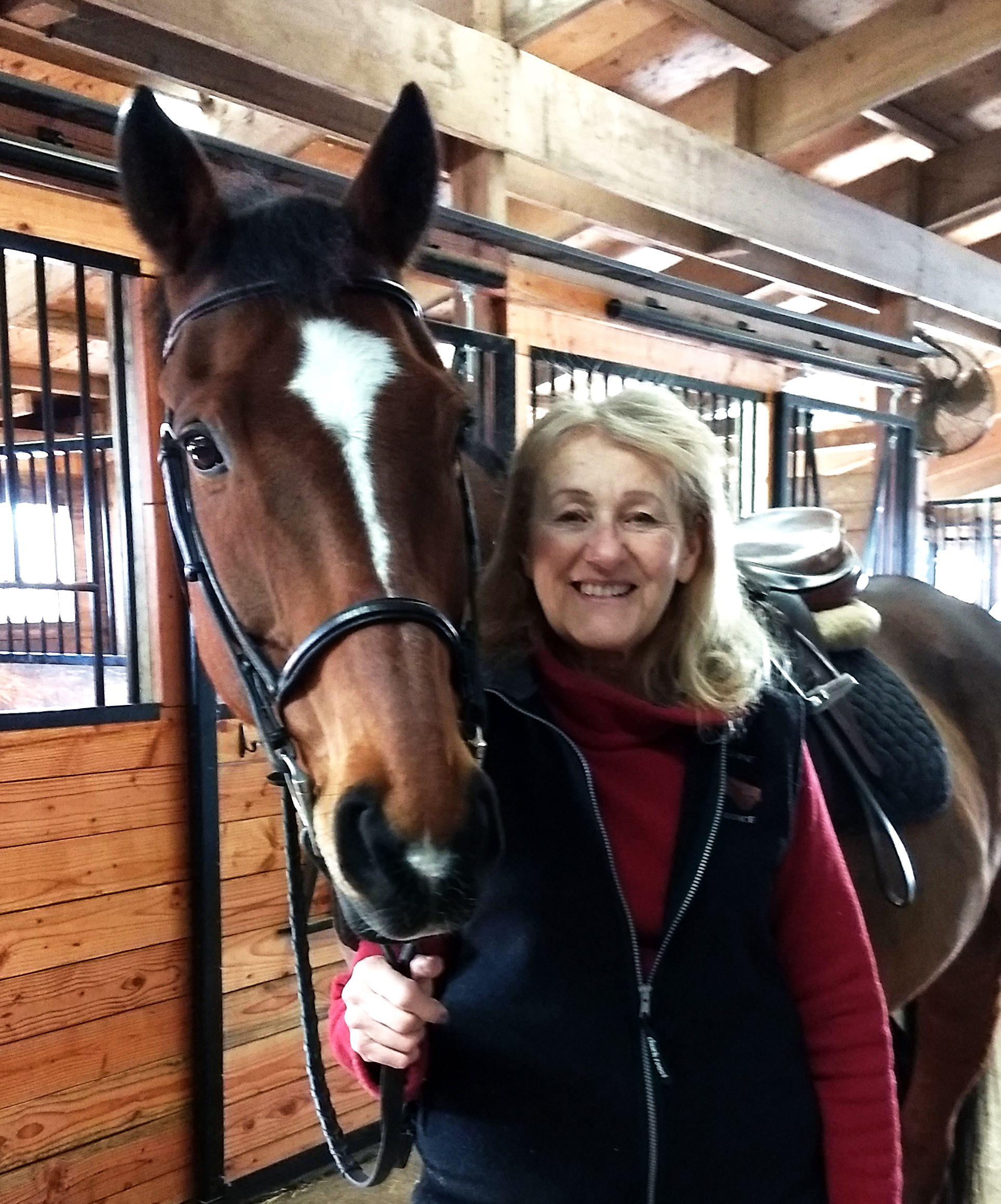 Janet Rojas, Owner/Broker of Rojas Equine Insurance, with Noah.