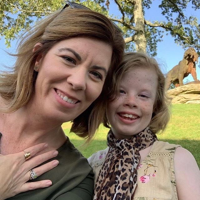 """Charli and her daughter rocking their Ivy House """"Be Brave"""" ring and leopard scarf."""