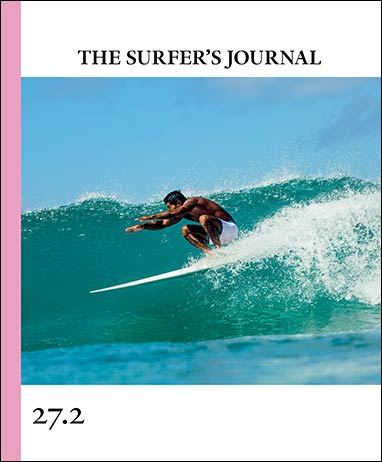 Cover shot of Toots for The Surfer's Journal