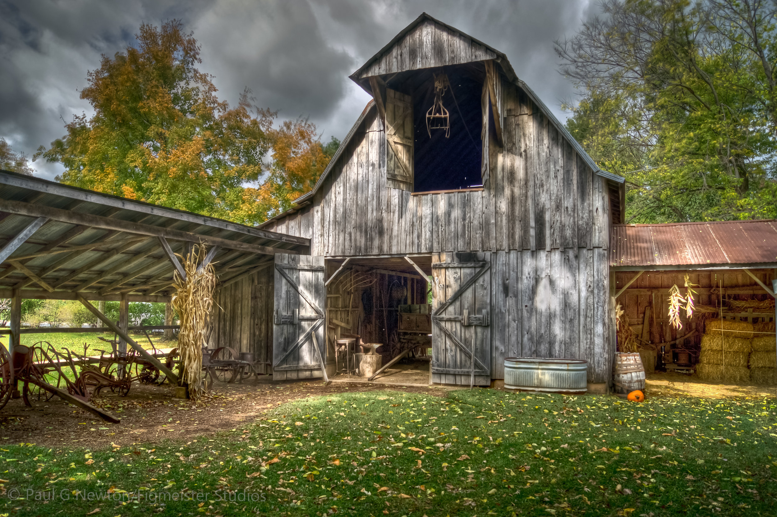 This is one of my earliest HDR Photographs of the Shiloh Museum Barn