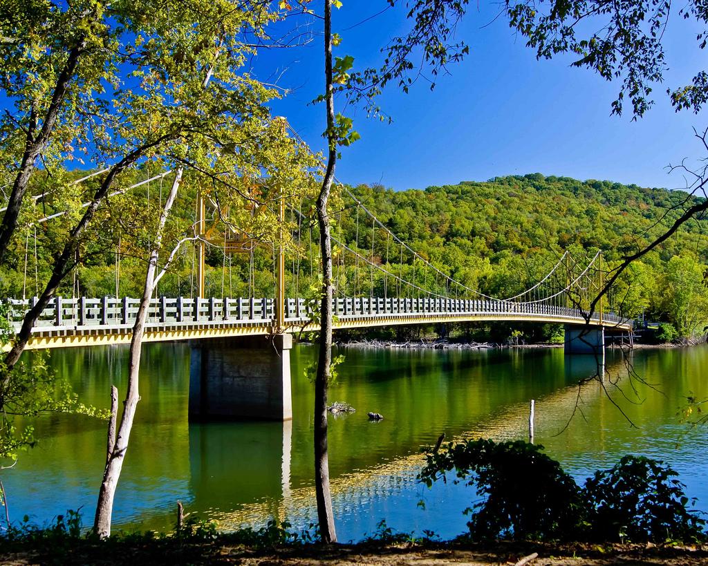 Mini Suspension Bridge near Eureka Springs, Arkansas