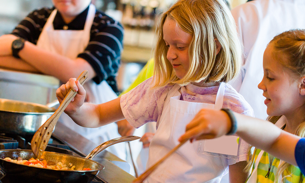 Drop the kids off for a cooking class at Casa Di Tutti