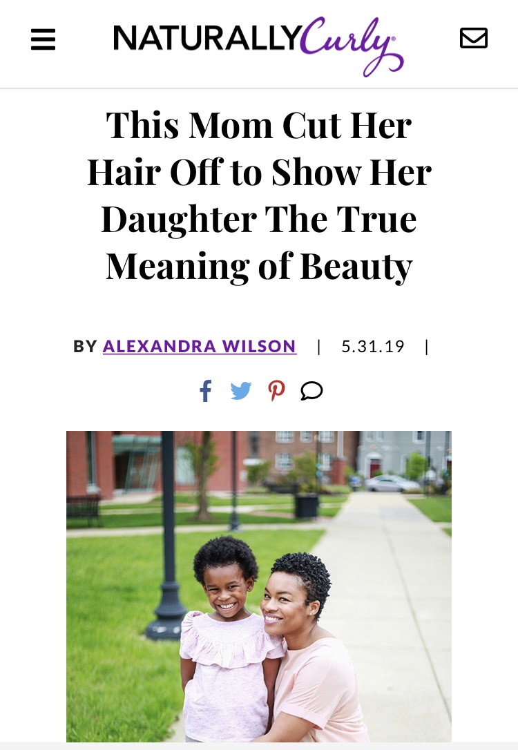 "NaturallyCurly Interview - Heather was interviewed and featured on Naturallycurly.com to discuss her natural hair journey and what it means to write a children's book about embracing beauty and confidence through ""princess hair"