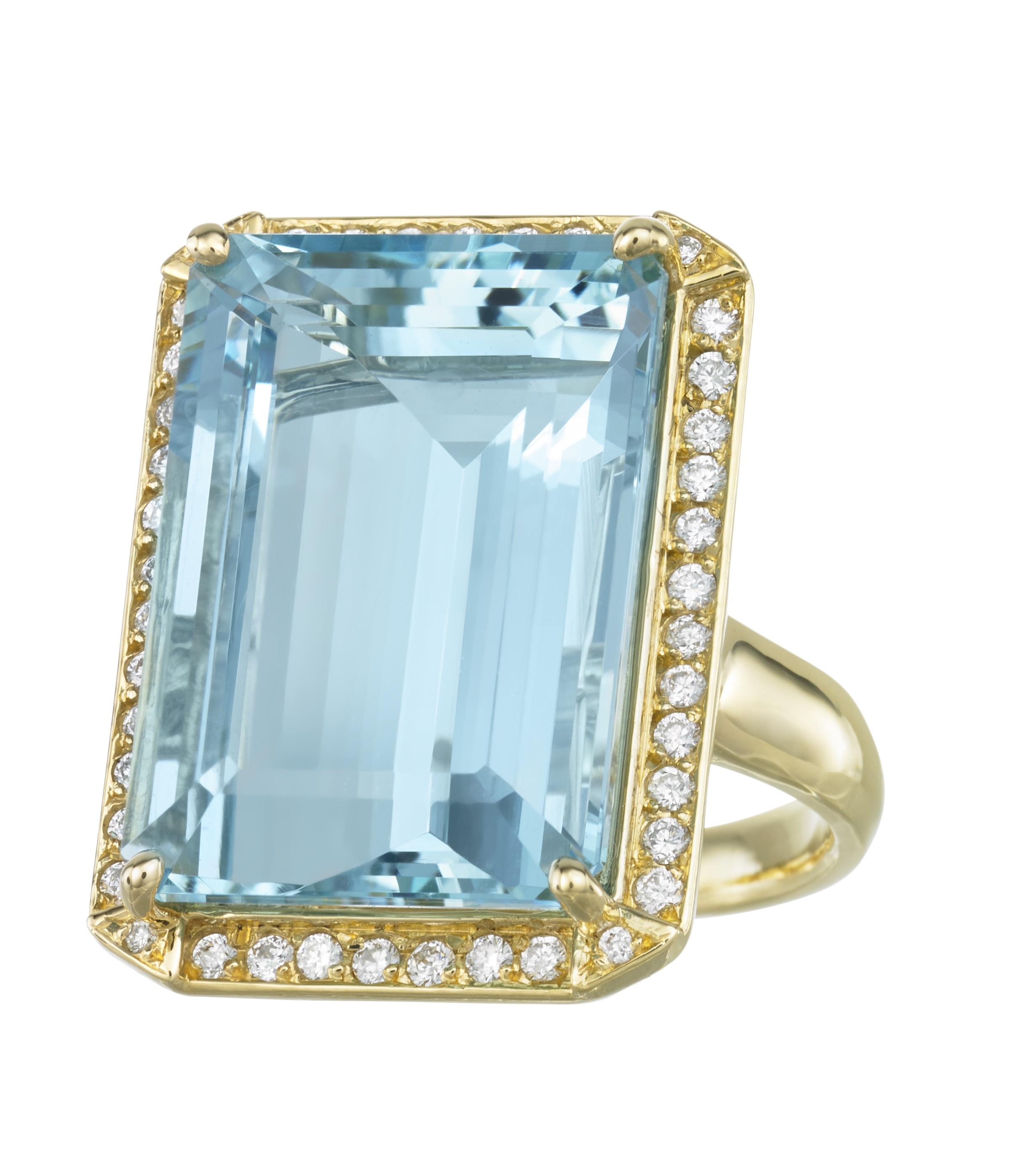 JOON HAN Large Emerald-Cut Aquamarine Ring with Diamonds.jpg