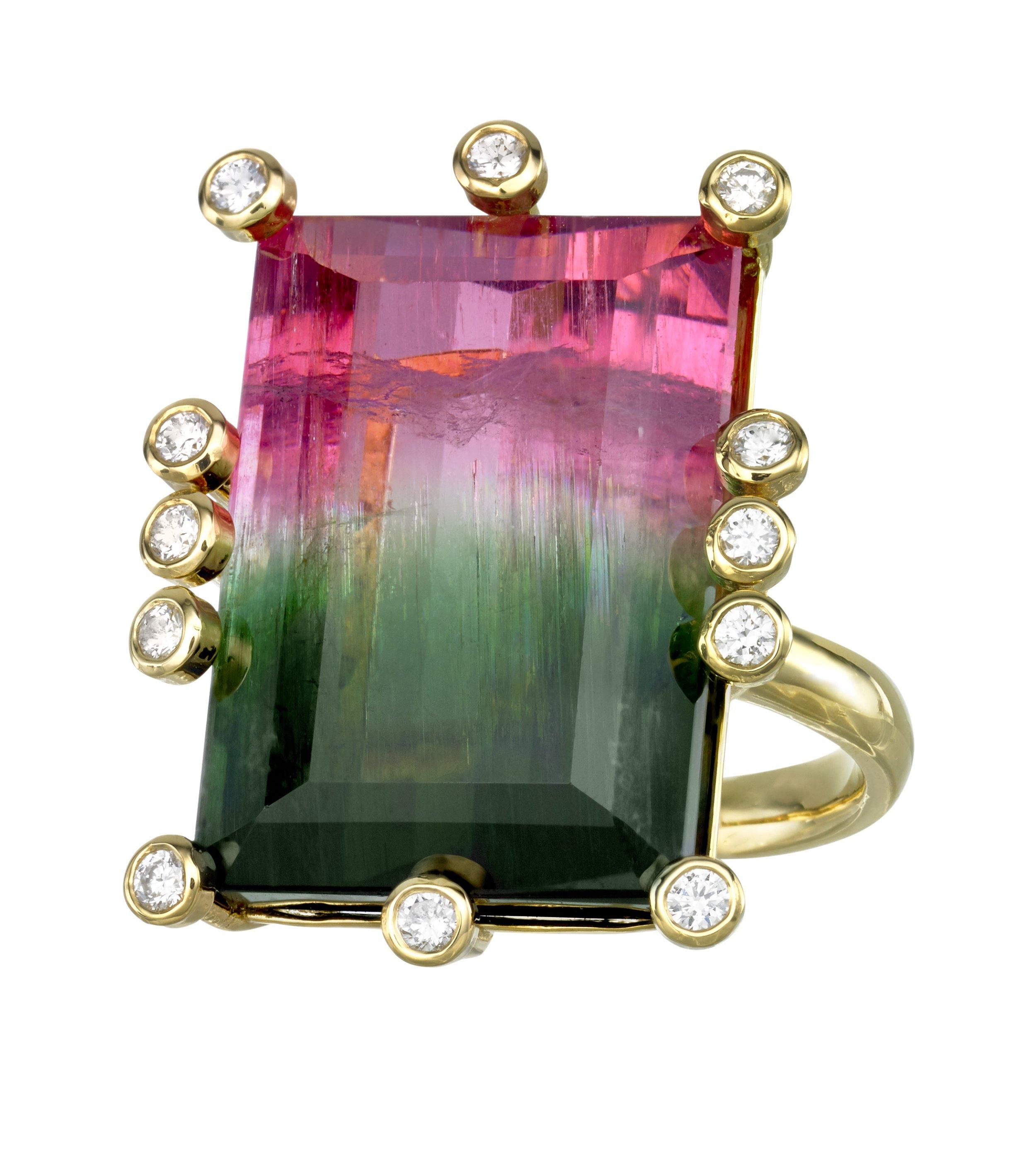 JOON HAN Large Rectangular Bicolor Tourmaline Ring.jpg