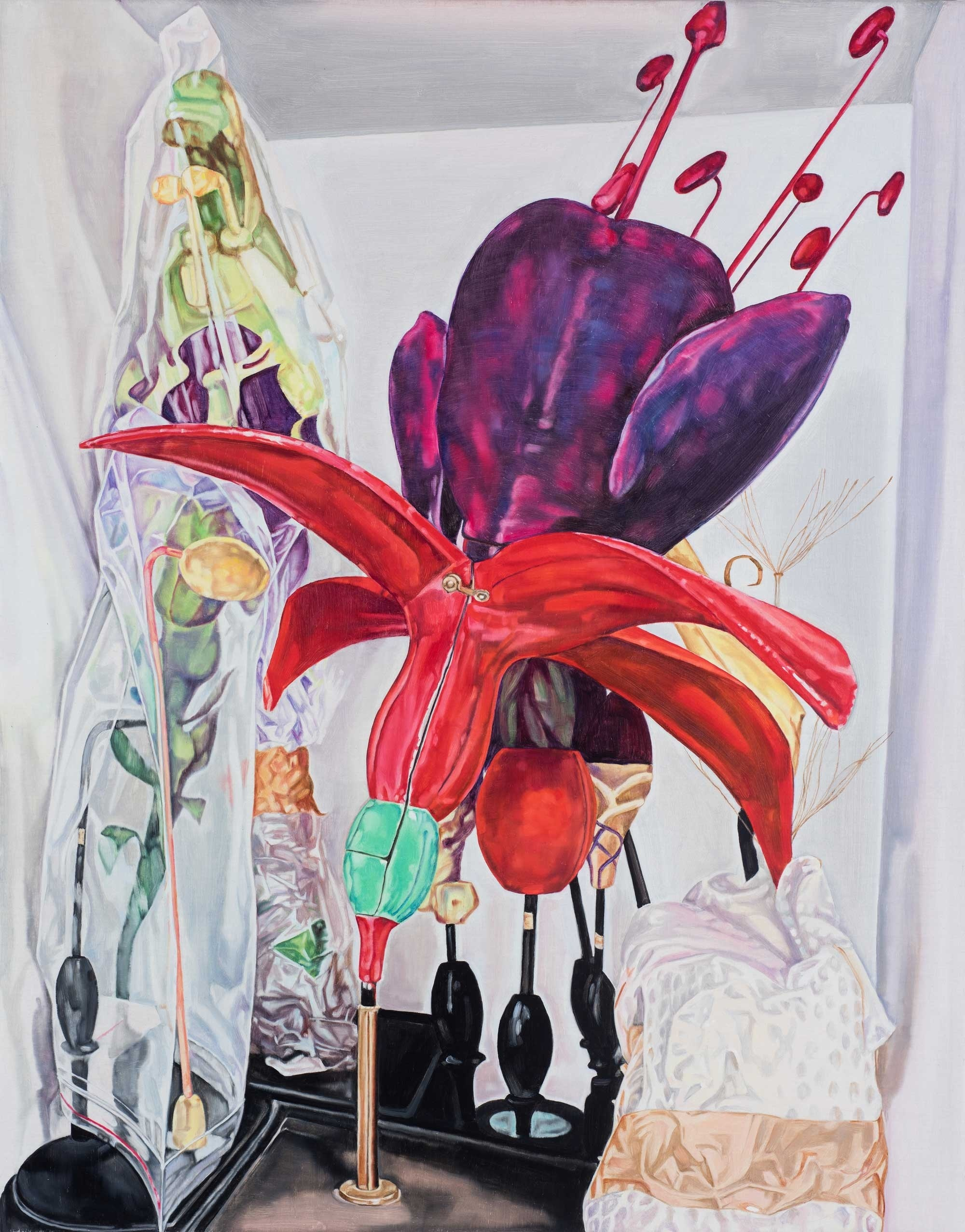 Herbarium still life (fuchsia) , 2016 86 x 66 cm oil on linen