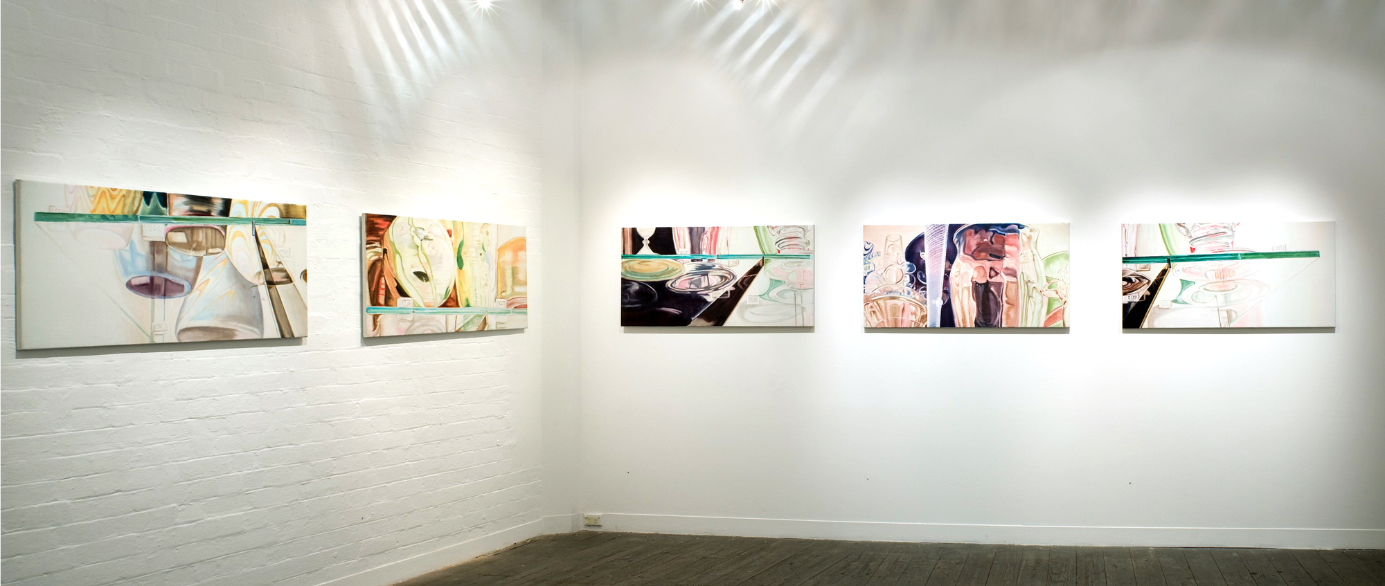 Recent paintings  installation shot, 2008