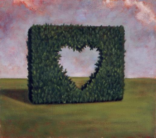 Hedge , 1995 35 x 45cm oil on linen