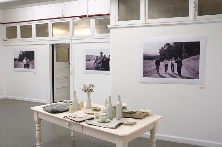Dena Kahan with Michele Burder and Amanda Johnson  In Modern Memory , (installation shot) Blindside Gallery, 2006