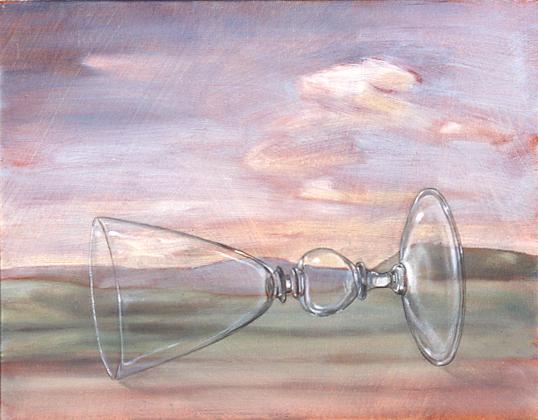 Fallen Glass , 2002 28 x 35cm oil on linen