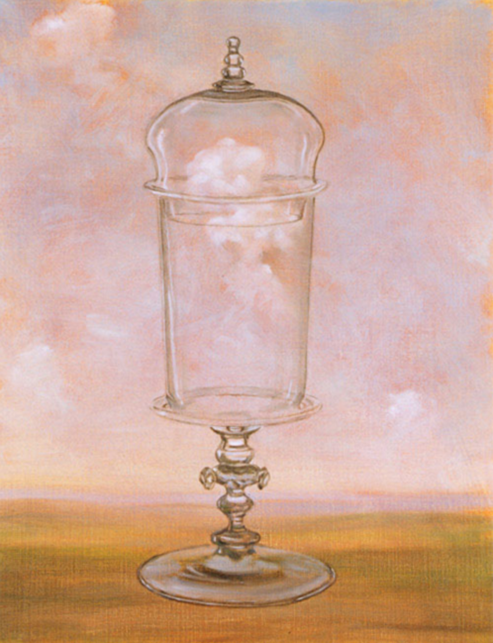 Glass with Lid , 2004 25 x 20cm oil on linen