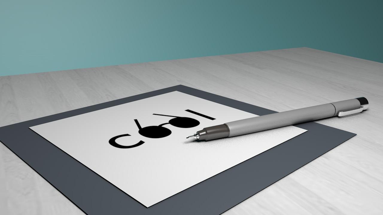 Pen Render - An ink pen rendered in 3D