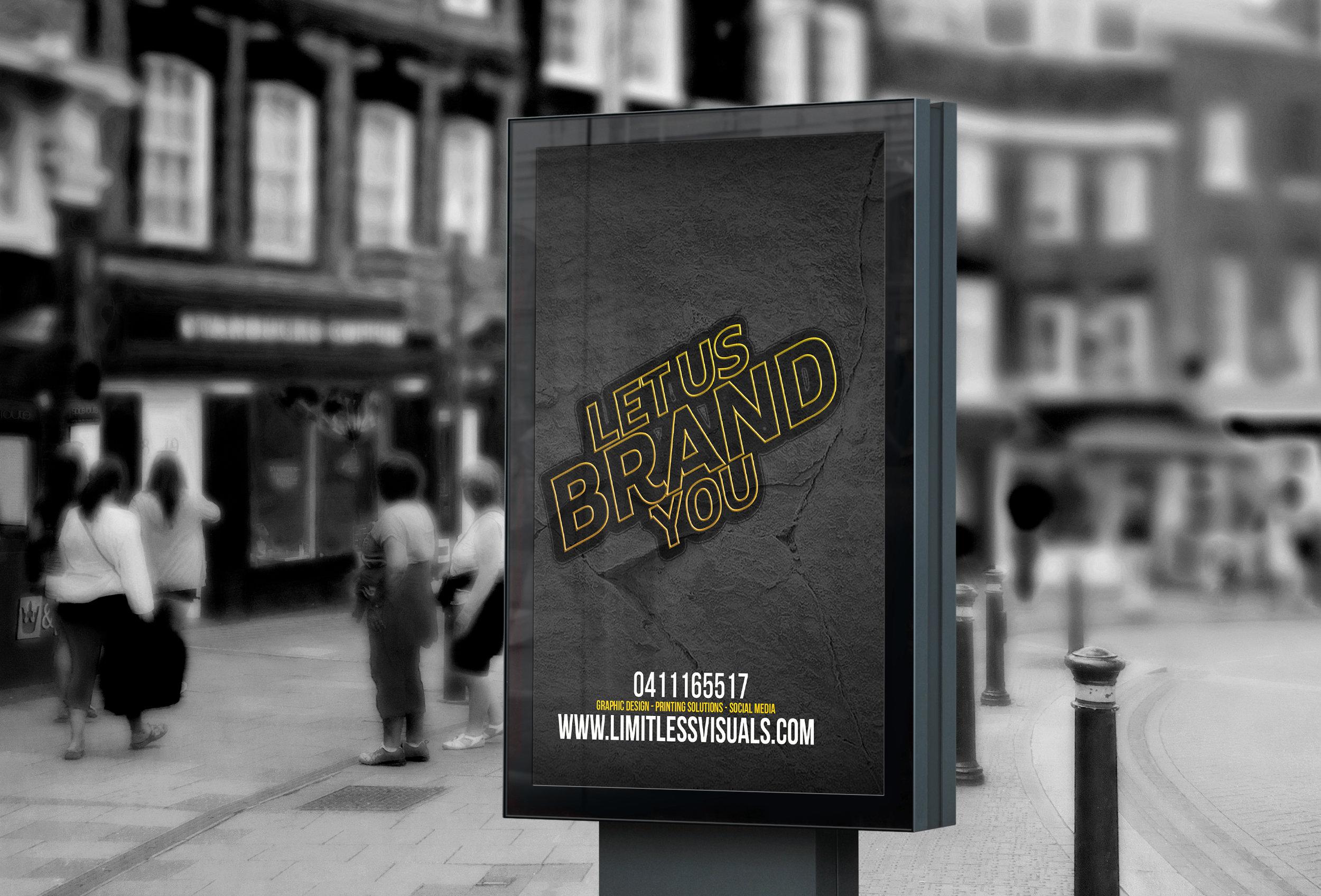 Billboard design, Shop now!