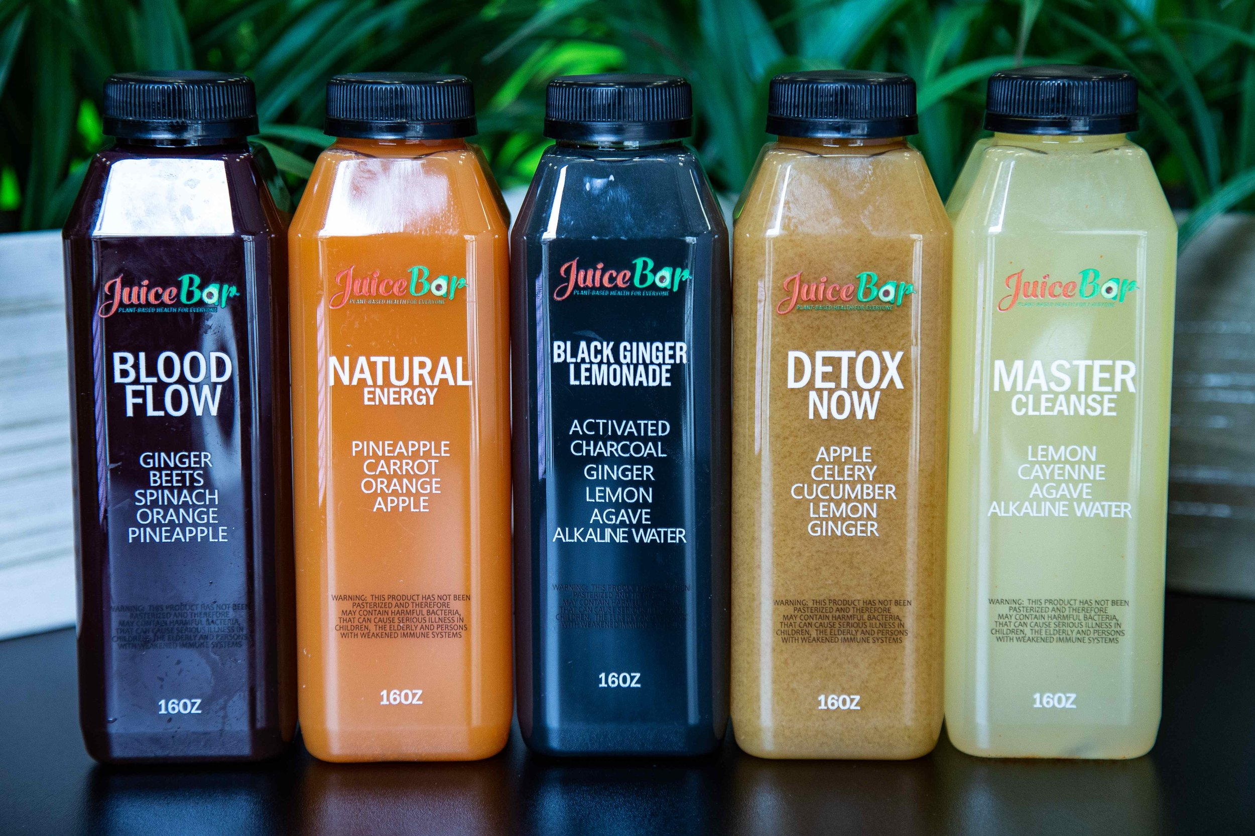 Cold Pressed Juices -