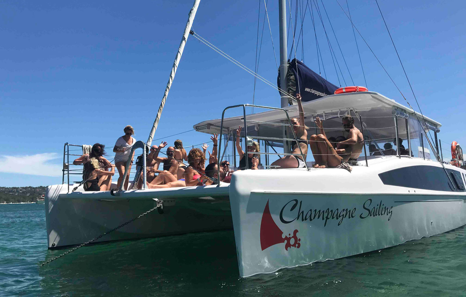 Champagne Sailing - Designed for entertaining, this catamaran provides an experience not to be missed.