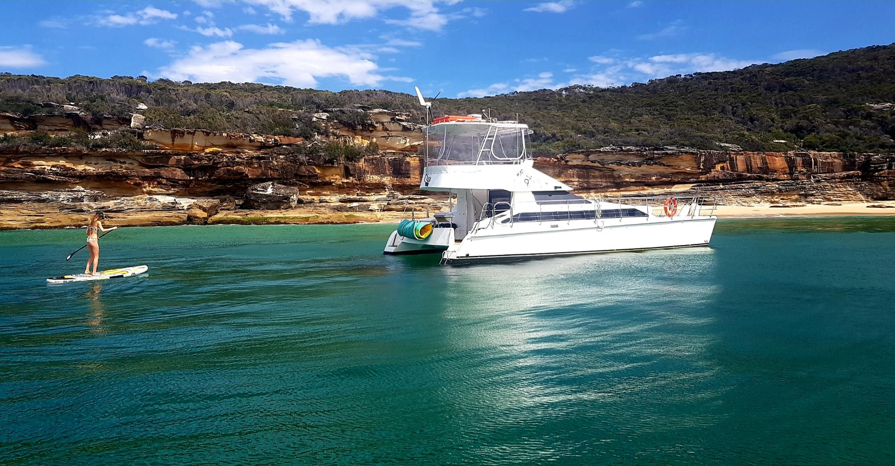 Cloud 9 - Soak up the sun and spoil your guests on this newly refurbished catamaran.