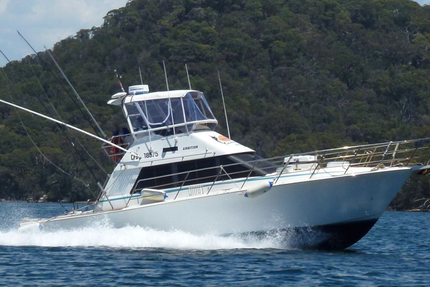 Ambition - Purpose built game fishing and harbour cruise boat.