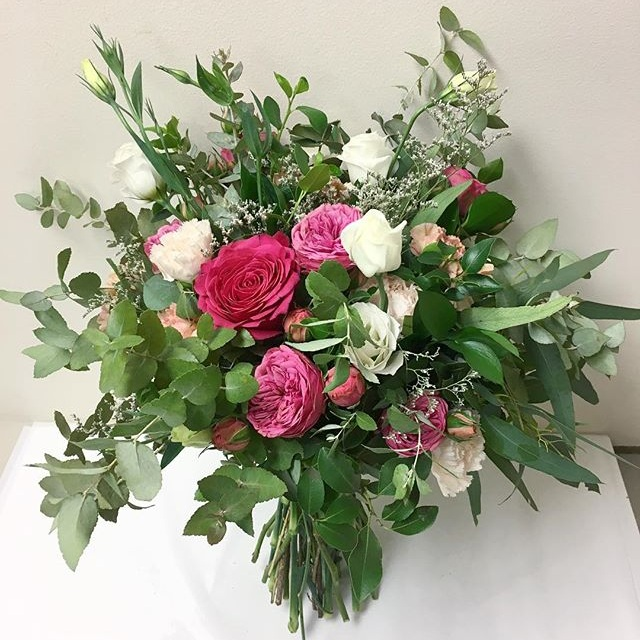 Large wildflower style bunch with bright colours