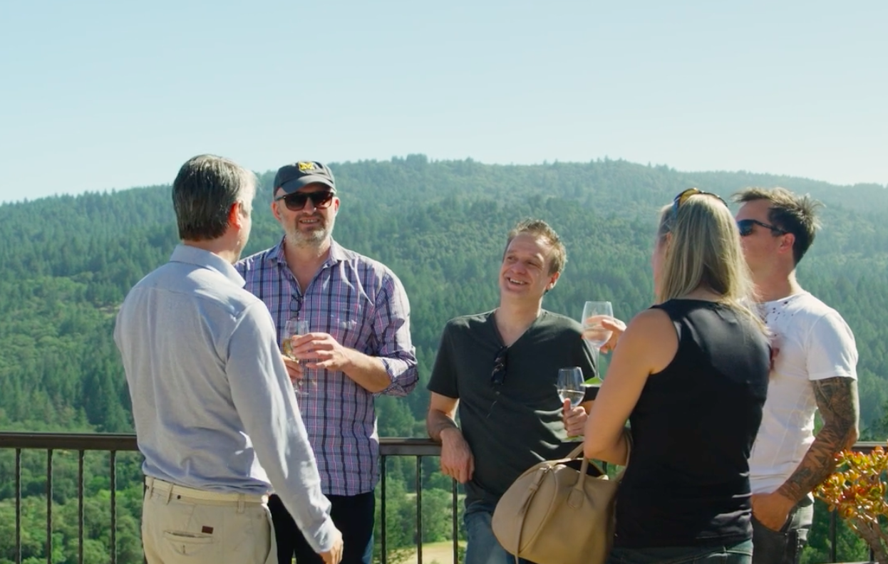 Winery in Calistoga with leaders from Estonia, Poland, Slovenia and the US. Data Tech Tour 2018 California