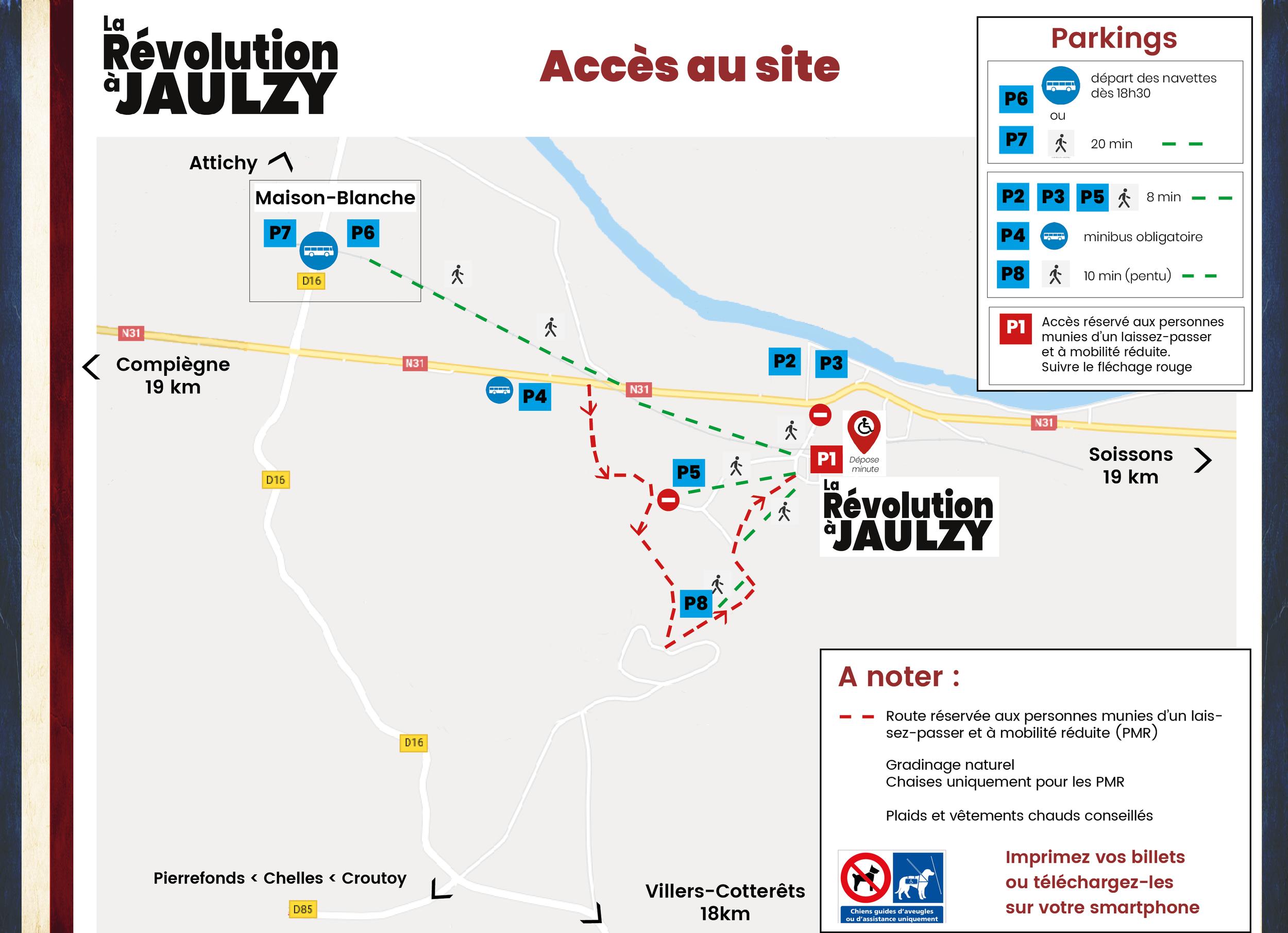 Informations Pratiques - Vendredi 31 mai et Samedi 1er juin 2019Place de la Mairie de JaulzyÀ 15 minutes de Compiègne—À partir de 19h : Ouverture des portes21h : Dernier accès aux parkings gratuits