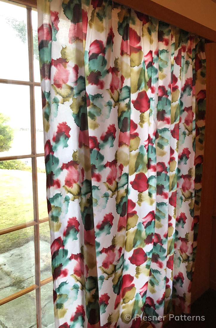 Zen Garden cotton curtain