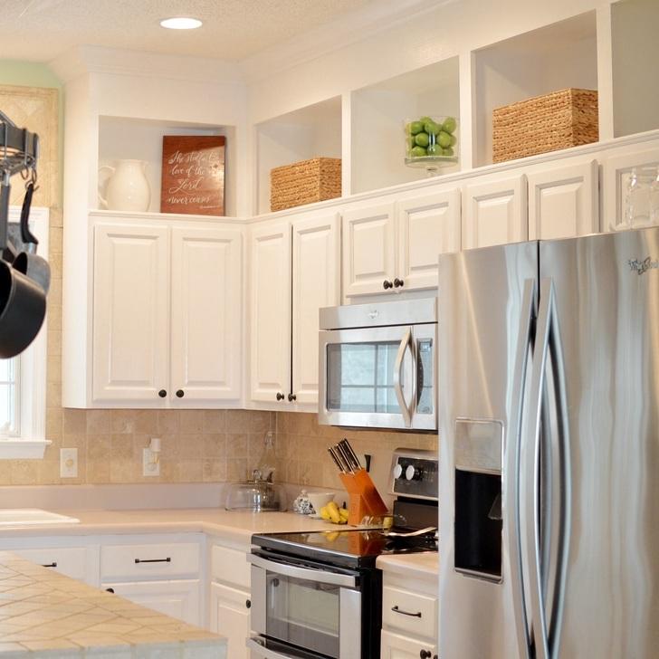 DIY Raised cabinets -