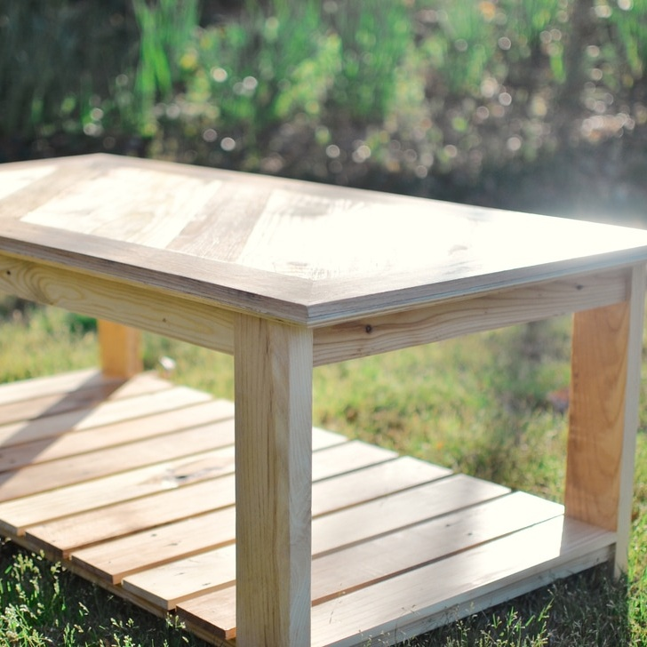 Pallet wood coffee table -