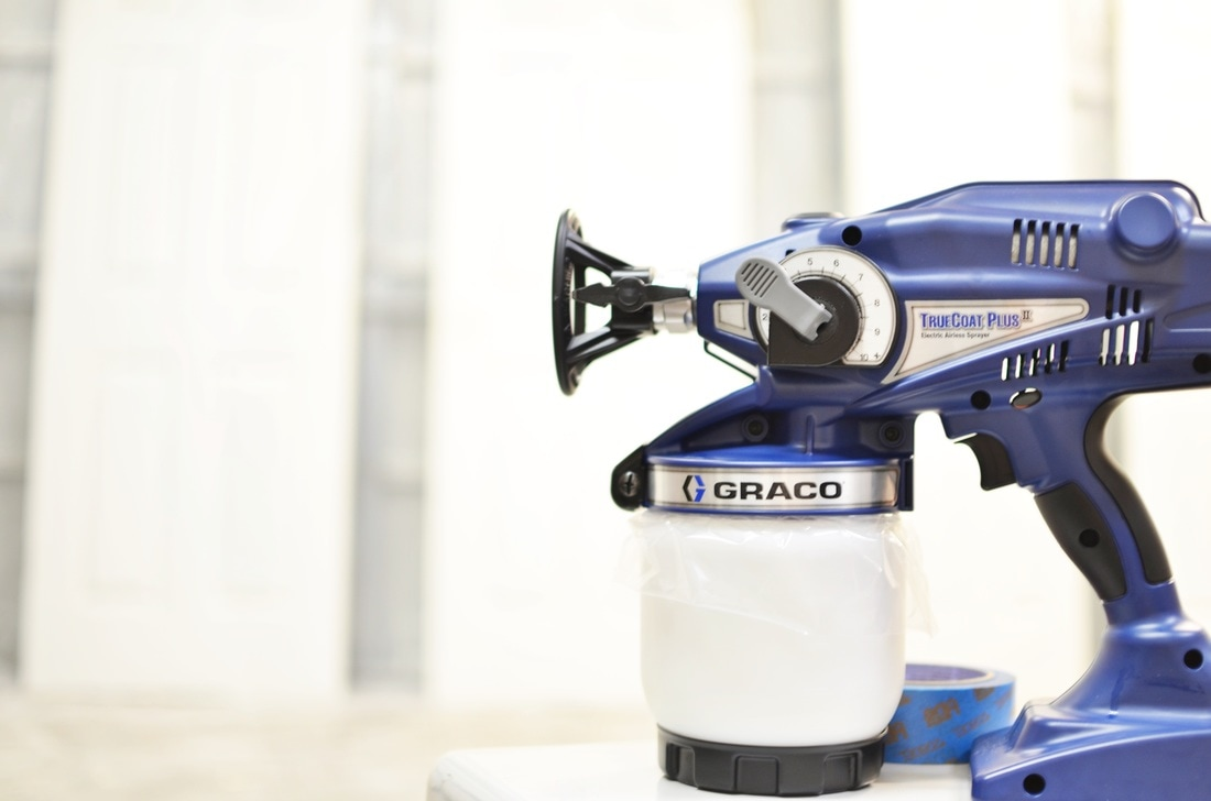 This is the Graco TruCoat Plus II and I first tested it out by repainting all of our interior doors!