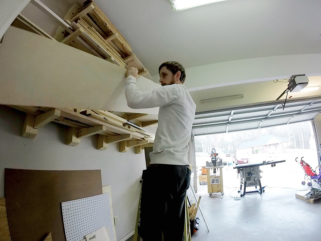 """I missed getting a picture of breaking down the 4x8 ft. sheet of 1/2"""" birch ply into 12"""" rips, but I start every cajon with one of these 8' long pieces"""