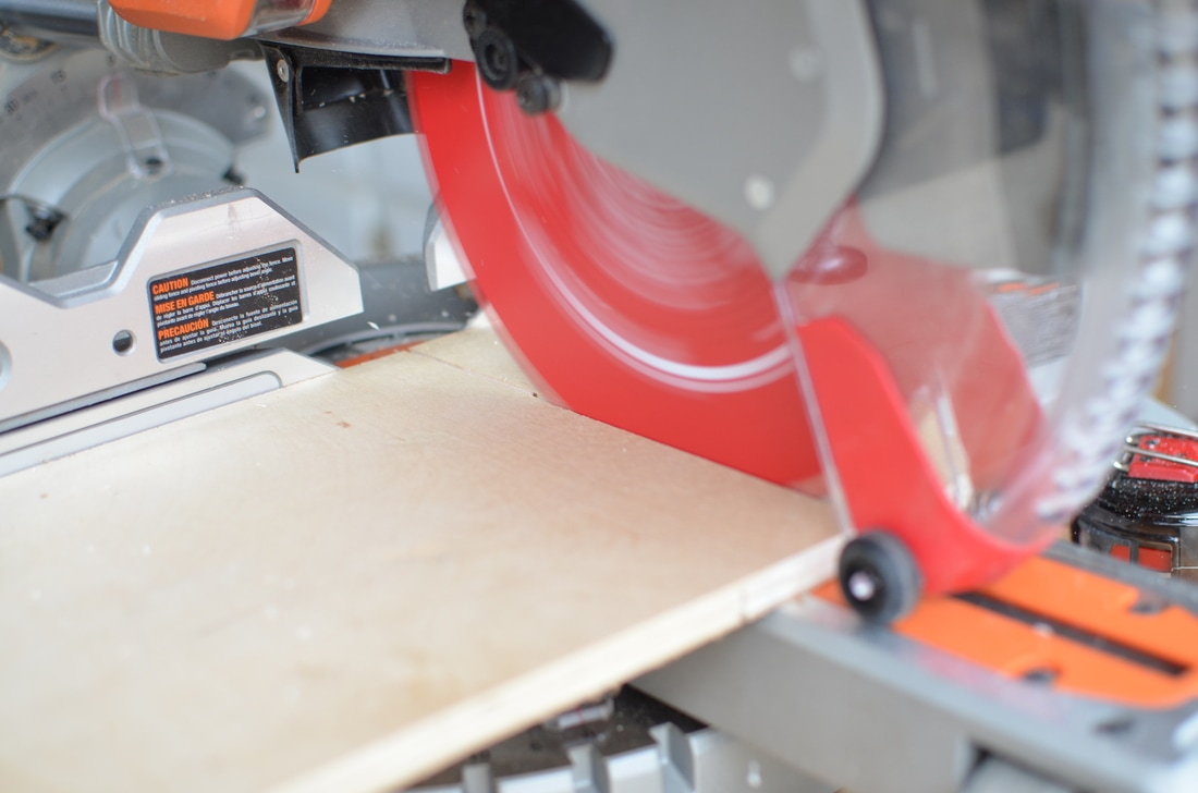 """When you have 12"""" wide and 8' long boards like these, a sliding miter saw (with a nicer blade) really does the trick!"""