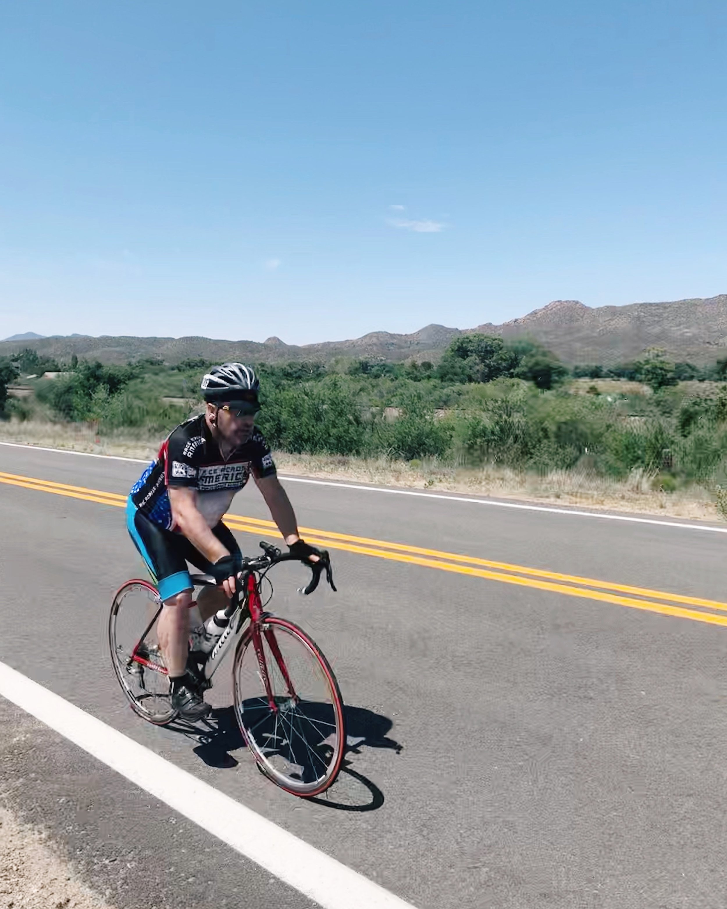 "Richard ""Powerhouse"" Hurring storming through the Arizona desert."